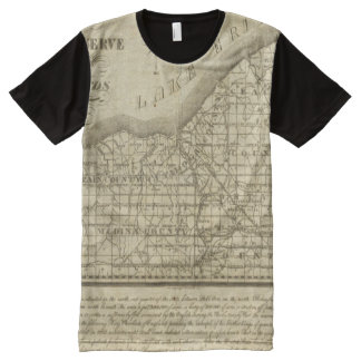 Map of The Western Reserve All-Over Print T-shirt