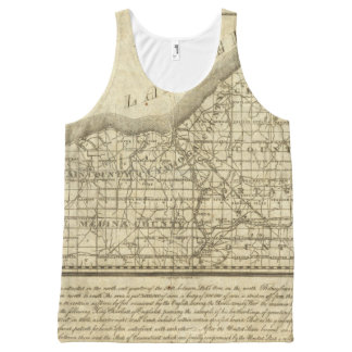 Map of The Western Reserve All-Over Print Tank Top