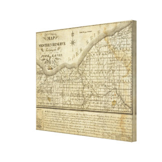 Map of The Western Reserve Canvas Prints