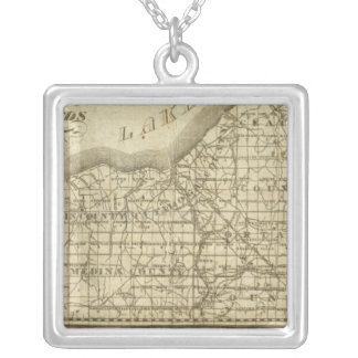 Map of The Western Reserve Square Pendant Necklace