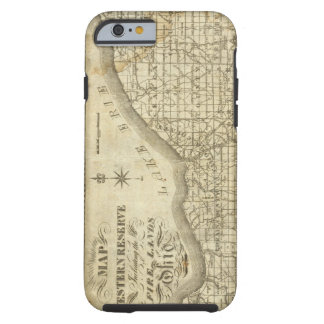 Map of The Western Reserve Tough iPhone 6 Case