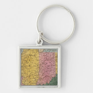 Map of the Western States Keychain