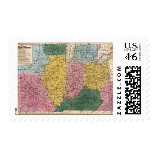 Map of the Western States Stamp