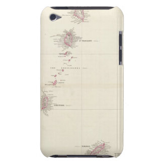 Map of the Windward Islands iPod Touch Case