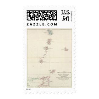Map of the Windward Islands Postage