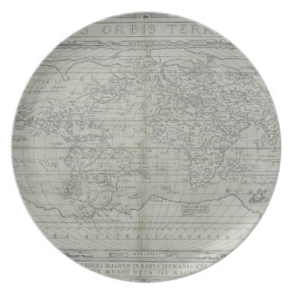Map of the World 10 Dinner Plate