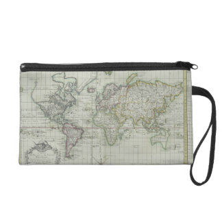 Map of the World 11 Wristlet
