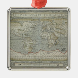 Map of the World 12 Metal Ornament