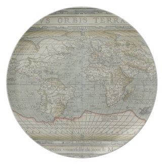 Map of the World 12 Party Plates