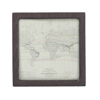 Map of the World 13 Keepsake Box