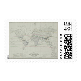 Map of the World 13 Stamp