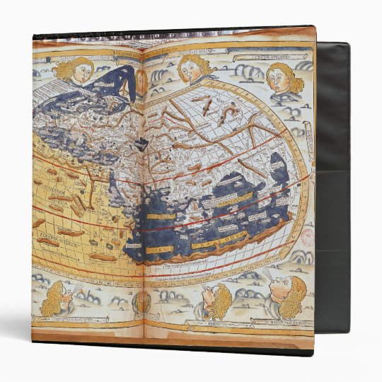 Map of the world, 1486 3 ring binder