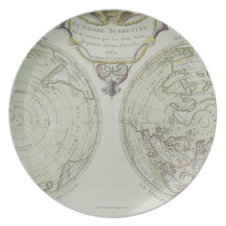 Map of the World 14 Party Plates