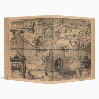 Map of the World (1581) 3 Ring Binder