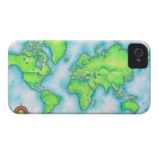 Map of the World 15 iPhone 4 Cases