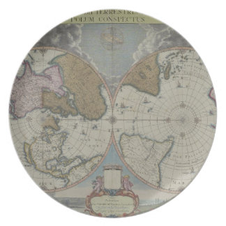 Map of the World 16 Party Plate