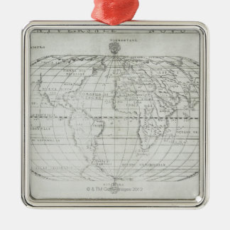 Map of the World 17 Metal Ornament