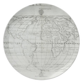 Map of the World 17 Plates