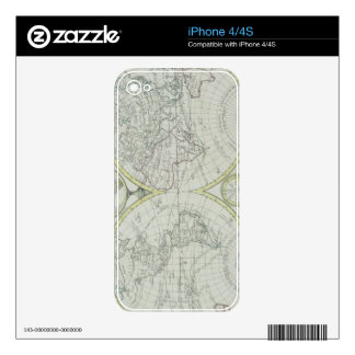 Map of the World 18 iPhone 4 Decals