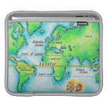 Map of the World 19 iPad Sleeve