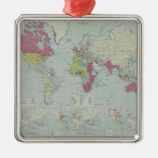 Map of the World 20 Metal Ornament