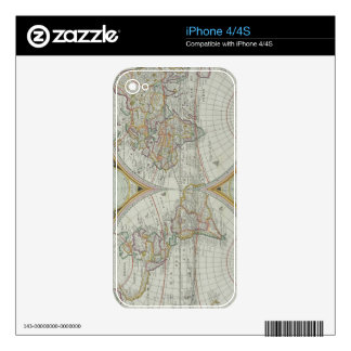 Map of the World 21 iPhone 4 Skin