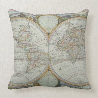 Map of the World 21 Pillows