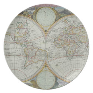 Map of the World 21 Plate
