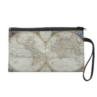 Map of the World 21 Wristlet