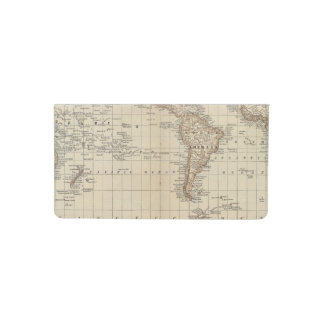 Map of the World 2 2 Checkbook Cover