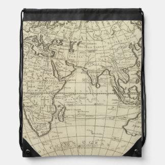 Map of the World 2 2 Drawstring Bag