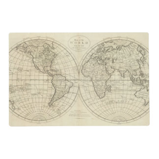 Map of the World 2 2 Placemat