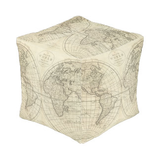 Map of the World 2 2 Pouf