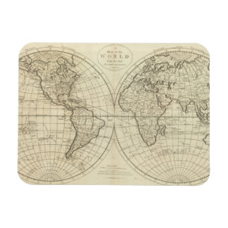Map of the World 2 2 Rectangle Magnets