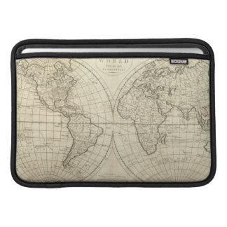 Map of the World 2 2 Sleeve For MacBook Air
