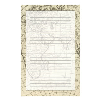 Map of the World 2 2 Customized Stationery