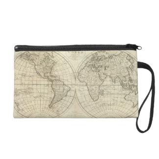 Map of the World 2 2 Wristlet Purse