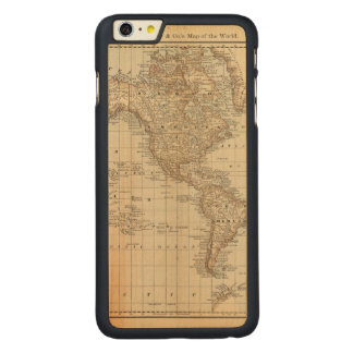 Map of the World 2 Carved Maple iPhone 6 Plus Slim Case