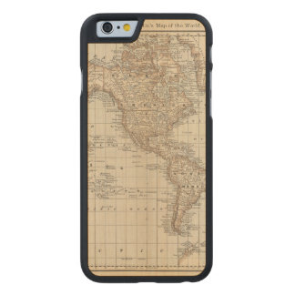 Map of the World 2 Carved Maple iPhone 6 Slim Case