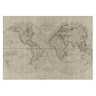 Map of the World 2 Cutting Board