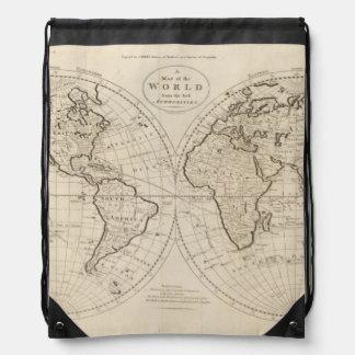 Map of the World 2 Drawstring Bag