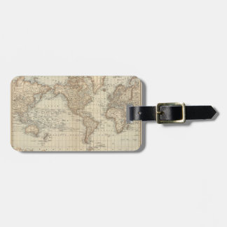 Map of the World 2 Luggage Tag