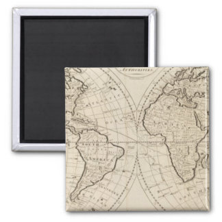 Map of the World 2 Refrigerator Magnet