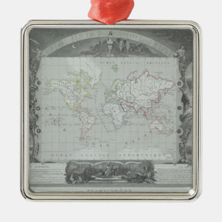 Map of the World 2 Metal Ornament