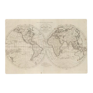 Map of the World 2 Placemat