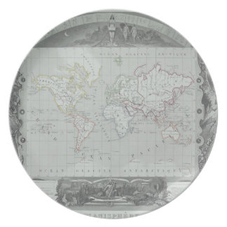 Map of the World 2 Party Plate