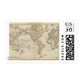 Map of the World 2 Postage