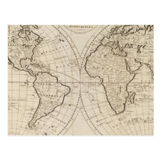 Map of the World 2 Postcard