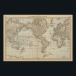 """Map of the World 2 Poster<br><div class=""""desc"""">Map of the World. By Rand McNally and Company (187). Published by &#39;&#39;Chicago: Rand McNally&#39;&#39;.</div>"""