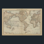 "Map of the World 2 Poster<br><div class=""desc"">Map of the World. By Rand McNally and Company (187). Published by &#39;&#39;Chicago: Rand McNally&#39;&#39;.</div>"